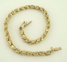 Cut Fancy 7 Inch Bracelet B5321 Very nice 14K Yellow Gold Diamond