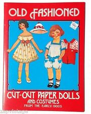 Vtg NEW Old Fashioned From Early 1900's Cut -Out Paper Dolls Book / Booklet