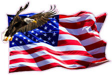"""American Flag Soaring Eagle Version 2 X Large 24"""" Decal Free Shipping"""