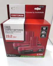 Craftsman C3 19.2 Volt Compact Lithium Ion Two (2) Battery Packs 9-35709 NEW