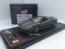 BBR Model 1/43 Ferrari F430 Scuderia Spider 16M 2008 Dark Grey Met. Art. BBRC01C