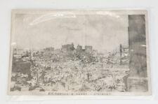 RARE Japan Antique Photo 1924 GREAT KANTO EARTHQUAKE Tokyo Free Ship 989f08