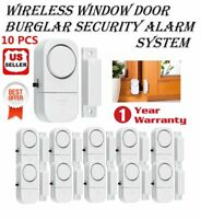 10 PACK WIRELESS DOOR AND WINDOW ENTRY ALARM BATTERY HOME SYSTEM SECUIRTY SWITCH