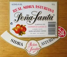 Etiquetas vinos REAL SIDRA  ASTURIANA  PEÑA SANTA  Asturias ESPAÑA  Labels wine
