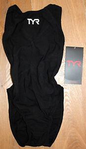 TYR Women's Black 32 Swimsuit Triathlon Tracer Light Aeroback FINA USA Made New
