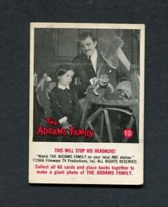 1964 The Addams Family TV Show Donruss Trading Card Number 10 Gomez & Wednesday