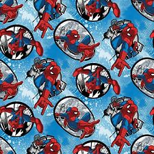 Marvel Spider-man Badge 100% cotton fabric by the yard