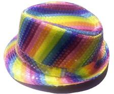 Cappellino cappello PAILLETTES MULTICOLOR festa party ARCOBALENO
