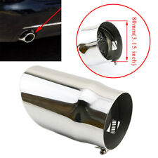 80mm Universal Auto Rear Exhaust Muffler Tailpipe Tips Cover Trim Fit 65mm-78mm