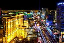 Las Vegas Strip At Night Photo Art Print Poster 24x36 inch