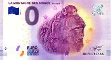 67 KINTZHEIM La montagne des singes 3, 2018, Billet 0 € Souvenir