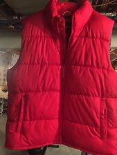 Red L New Puffy Vest