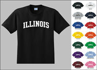 State of Illinois College Letters T-shirt