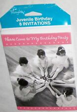 """TENDER THOUGHTS Girl Dnacers """"Birthday Party"""" Invitations w Envelopes Lot of 8"""