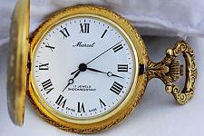 """ MARCEL "" Beautiful  Vintage 17 Jewels Mechanical Pocket Watch"