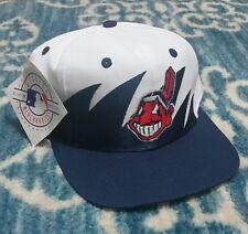 VTG 90s Cleveland Indians Logo Athletic Sharktooth snapback hat mlb NWT
