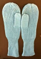 Vintage Light Blue Ladies Mittens. One Size. 100% Cosy Acrylic. Ref 020