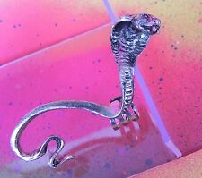 Snake COBRA Silver or Gold Gothic Full Body Ear Cuff Wrap Earring Punk Gothic