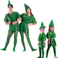 Adult kids Peter Pan Fancy Dress Costume Robin Hood Outfit Halloween Cosplay Hot