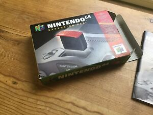 Official Nintendo 64 Expansion Pak Pack N64 Box Only Rare VG