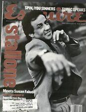 Esquire Magazine December 1996 Sylvester Stallone Tupac Shakur Joaquin Cortes