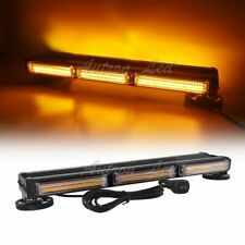 "19"" COB LED Warning Emergency Response Roof Flashing Amber Mini Strobe Light Bar"