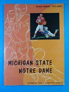 1956 NOTRE DAME-MICHIGAN STATE COLLEGE FOOTBALL PROGRAM EX-MINT+ PAUL HORNUNG