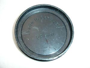 59mm front lens cap , SLIP ON 58mm filter size lens, plastic,  vintage , Germany