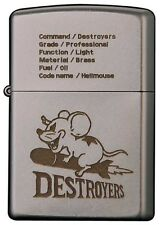 NEW Zippo Lighter Old DESTROYERS Hell Mouse Silver Vintage Finish 2OF-HELLMOUSE
