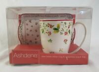 Ashdene Snack Set New Bone China Mug and Melamine Snack Tray Boxed New