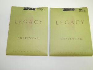 Legacy Shapewear Textured Tights A73297 Black & Brown Size C - Set of 2