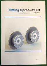 Mercedes C180 C200 E200 SLK CLK M271 Timing Sprockets Gears Camshaft Adjusters.