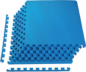 "Puzzle Exercise Mat 1/2"" Thick, 24 Square Feet with EVA Foam Interlocking Tiles"