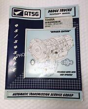 45RFE 5-45RFE Transmission ATSG Technical Service and Repair Manual for Dodge