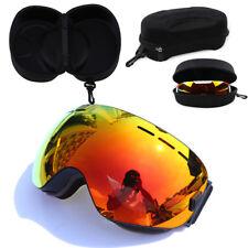 Ski Snowboard Goggles Dual Lens Anti Fog UV Wind Eye Glasses EVA Protection Case