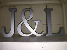 Wedding Centrepiece, Any 2 Letters A-Z plus an & Sign 13cm Large Silver Letters