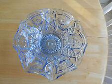 Beautiful Vintage Glass Fruit Bowl - Light Blue - IOB