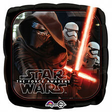 """STAR WARS PARTY SUPPLIES 17"""" THE FORCE AWAKENS SQUARE NO MESSAGE ANAGRAM BALLOON"""