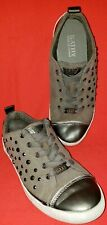 Kathy Van Zeeland Women's Fashion Lifestyle Sneakers Size 8M Gray Pewter Toe Cap
