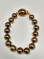 Vintage Signed Carolee Dyed Faux Pearl Bracelet 7 inch approx.