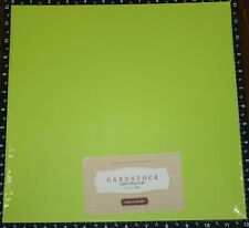 "Close To My Heart CITRUS LEAF Green 12"" x 12"" Cardstock 24 sheets Sealed package"