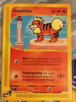 Growlithe  80/147  Aquapolis Pokemon TCG e-Reader  NM/M