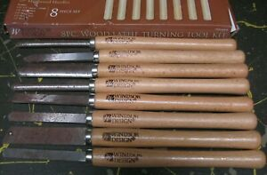 Windsor Design 8-piece wood lathe chisels tools, turning set