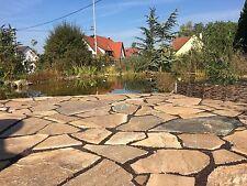 Polygonalplatten Naturstein Terrassenplatten Karistos Braun Quarzit 25-35mm