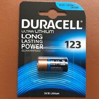 NEW Duracell Ultra CR123 CR123A 123 3V Lithium Photo Camera Battery Expiry 2027