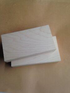Rubber Stamp Mounts,  Wood Blocks, Stamp Mounts, Maple Mounts, 2.5  X  4..5