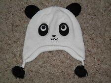 """GYMBOREE """"Penguin Chalet"""" Panda Sweater Hat Size 5-7"""