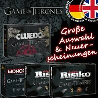 Game of Thrones Spiel GoT Brettspiel Risiko Monopoly Cluedo Deutsch Englisch NEU