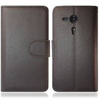 FOR SONY XPERIA SP C5303 PU LEATHER WALLET FLIP CASE COVER BLACK