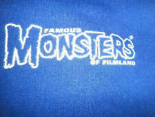 FAMOUS MONSTERS OF FILMLAND HOODIE - LARGE TWO SIDED BLUE SIZE L